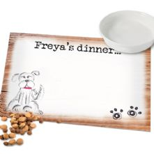 Personalised Dog Gifts: Scribble Dog Placemat